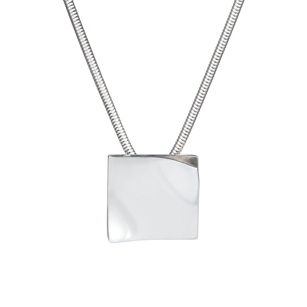 Sterling silver flip pendant