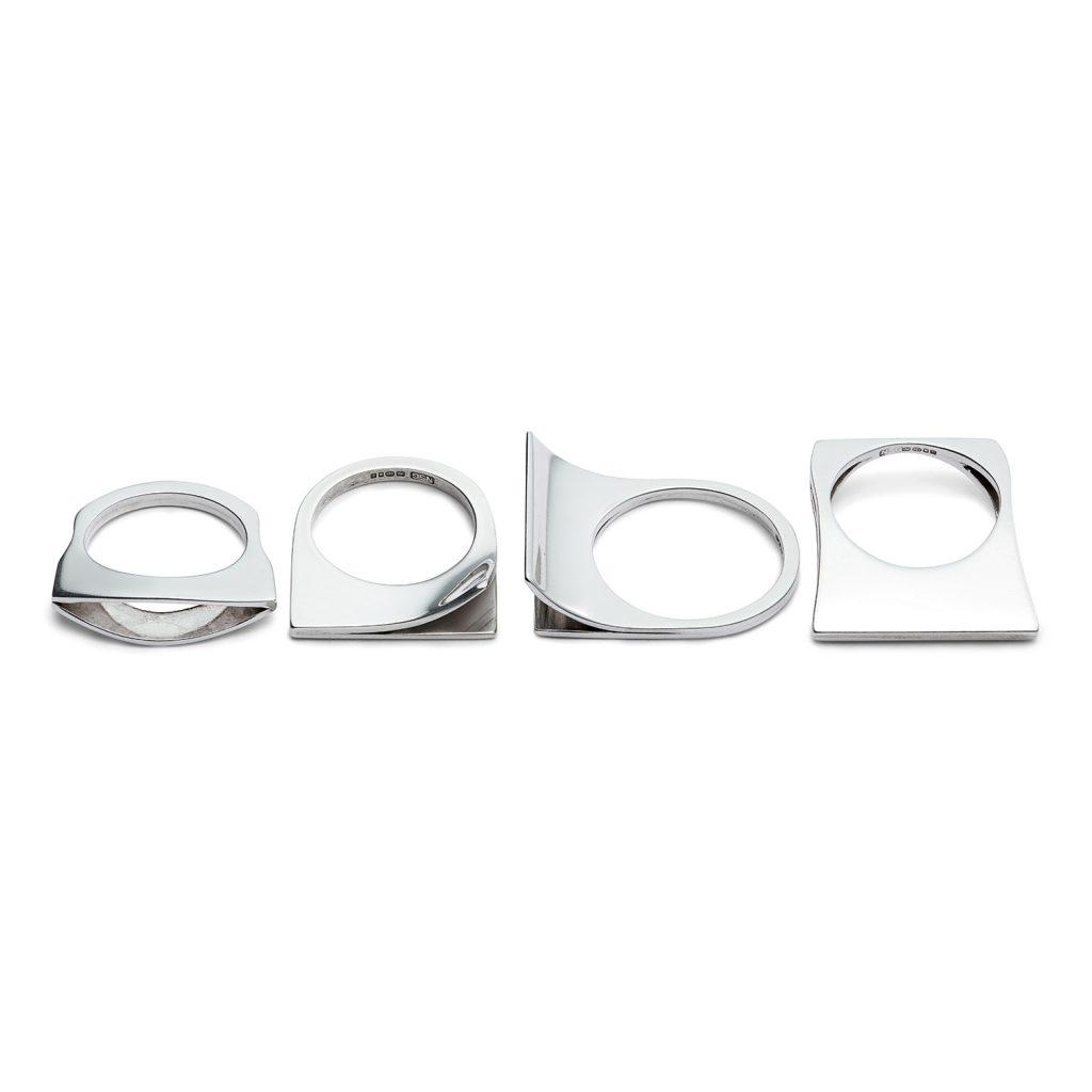 Sterling silver flip rings